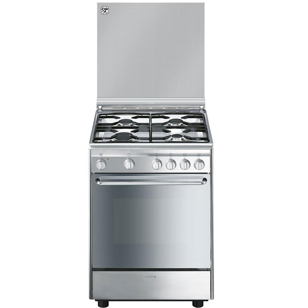 Cucine : CX6SV9 SMEG CUCINA 60 CM PIANALE A GAS FORNO MULTIFUNZIONE ...